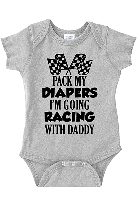 Custom Baby Bodysuit My Daddy is Faster Than Your Race Car Dad Fathers Day