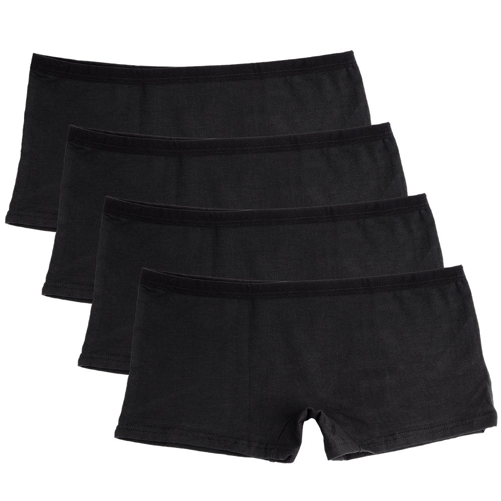 Closecret Lingerie Women's 6 Pack Comfort Soft Boyshorts Stretch Cotton Panties