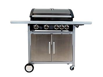 Test Gasgrill Mit Seitenbrenner : Traedgard® gas grill grillwagen bbq indio 500 edel 4 brenner 1