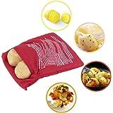 Bolsa microondas para asar patatas en 4 min mazorcas de maíz, pan del día anterior, y agregar…