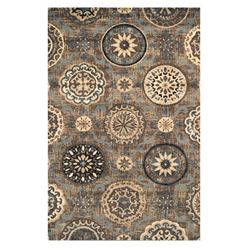 SUPERIOR Designer 5′ x 8′ Abner Collection Area Rug, Taupe