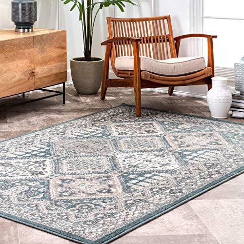 Amazon Com Nuloom Becca Vintage Tile Area Rug 8 X 10