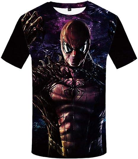 Htekgme Camiseta 3D Venom T-Shirt Hombres Anime Ropa Camisa Geométrica Imprimir Camiseta Negra Impreso Ropa para Hombre Punk Rock Impreso: Amazon.es: Deportes y aire libre