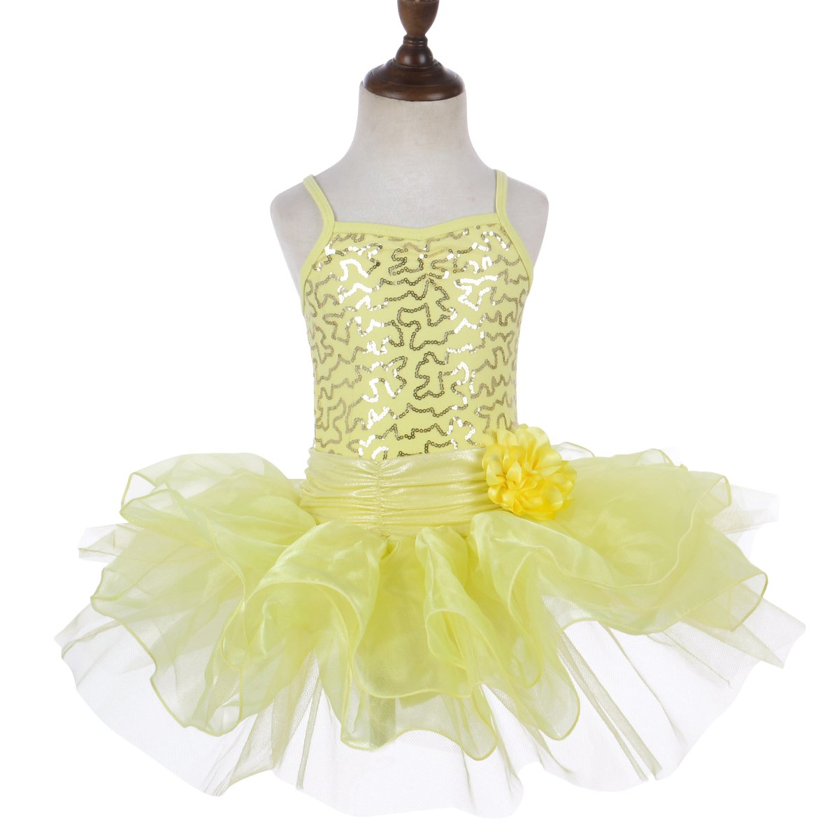 6df0fb566 Little Girls  Ballet Sequined Dress Gymnastics Dance Leotard Costume ...