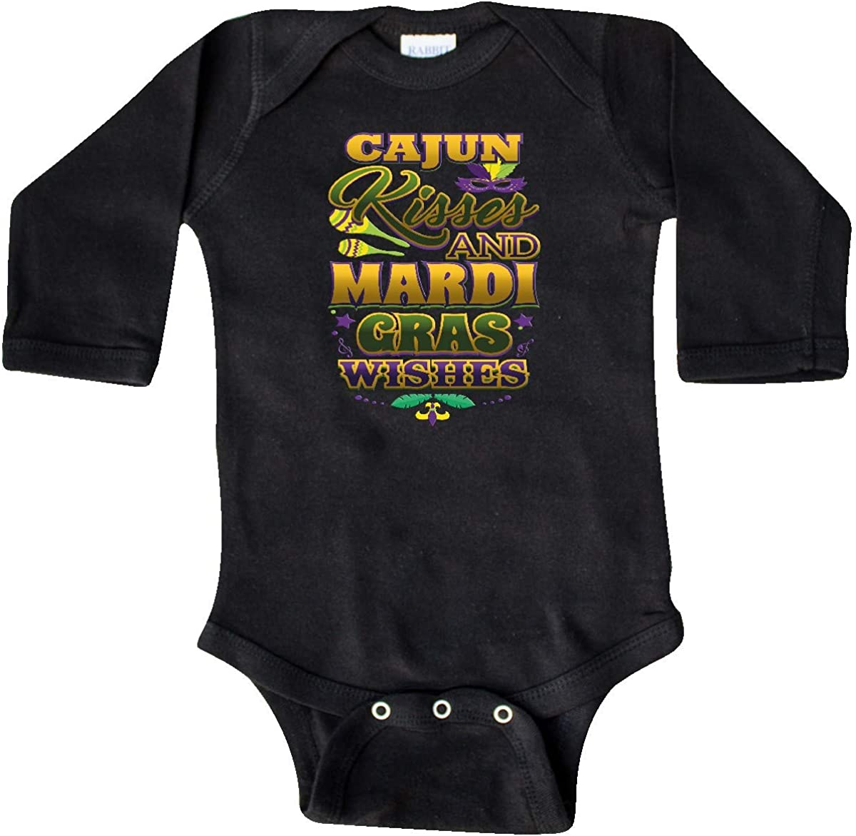 inktastic Mardi Gras Wishes Cajun Kisses Baby T-Shirt