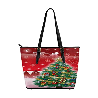 InterestPrint Womens Tote Bags PU Leather Work School Travel and Shopping