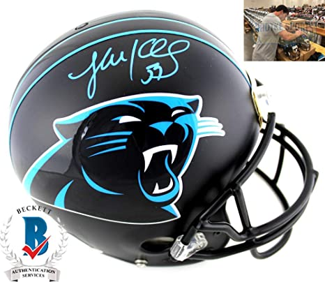 a319fba2d Amazon.com  Luke Kuechly Autographed Signed NFL Carolina Panthers Custom  Black Authentic Helmet  Sports Collectibles