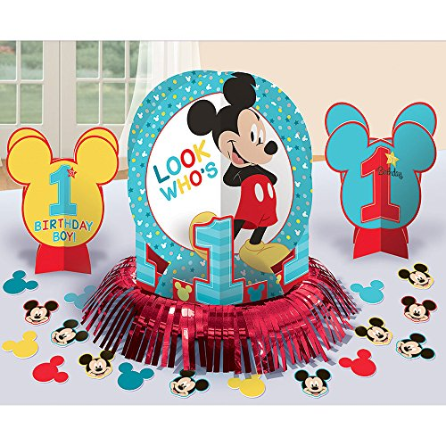 Mickey Mouse 1st Birthday 'Fun to Be One' Table Decorating Kit (23pc)