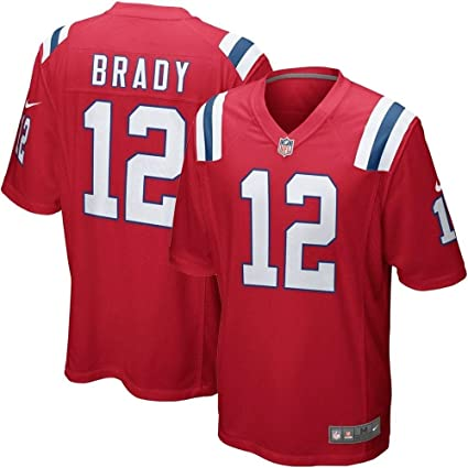 low priced 5b9ee 7e867 Tom Brady New England Patriots Nike Alternate Game Jersey – Red (Small)