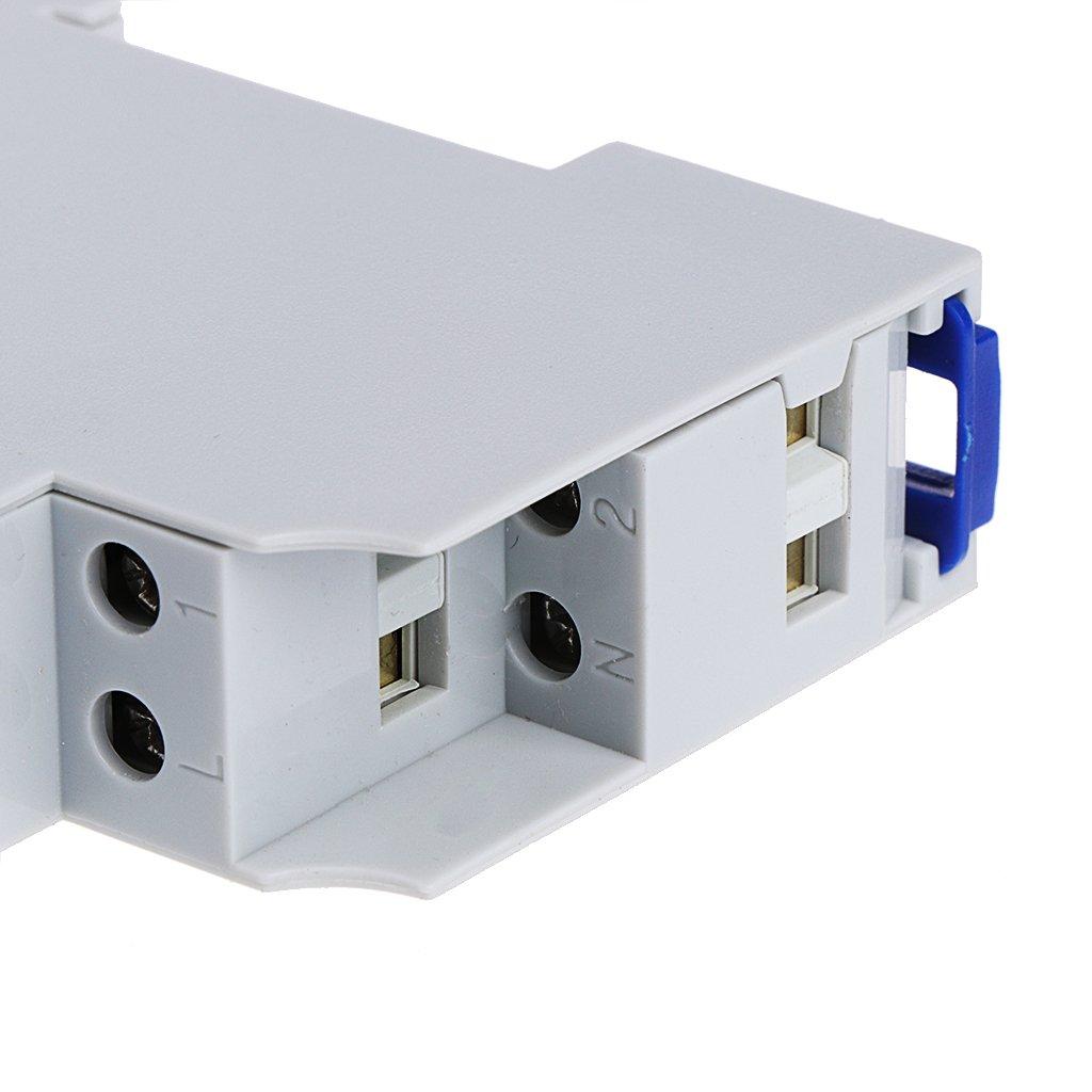 MB-LANHUA Interruptor Temporizador Duradero 16A Escalera de riel DIN Interruptor de rel/é electr/ónico Temporizador de Tiempo Corredor AF