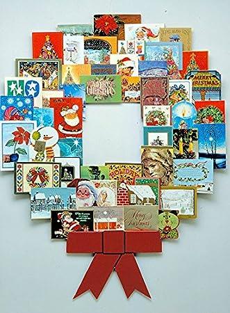 Huge 40 X 40 Wonder Wreath Christmas Card Photo Amazoncouk Extraordinary Christmas Card Display Stand