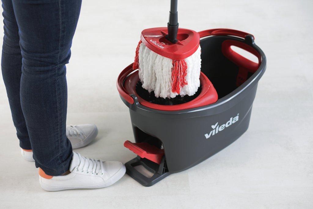 Vileda Easy Wring/Clean Turbo Set - Escoba con cubo + 2 recambios: Amazon.es: Salud y cuidado personal