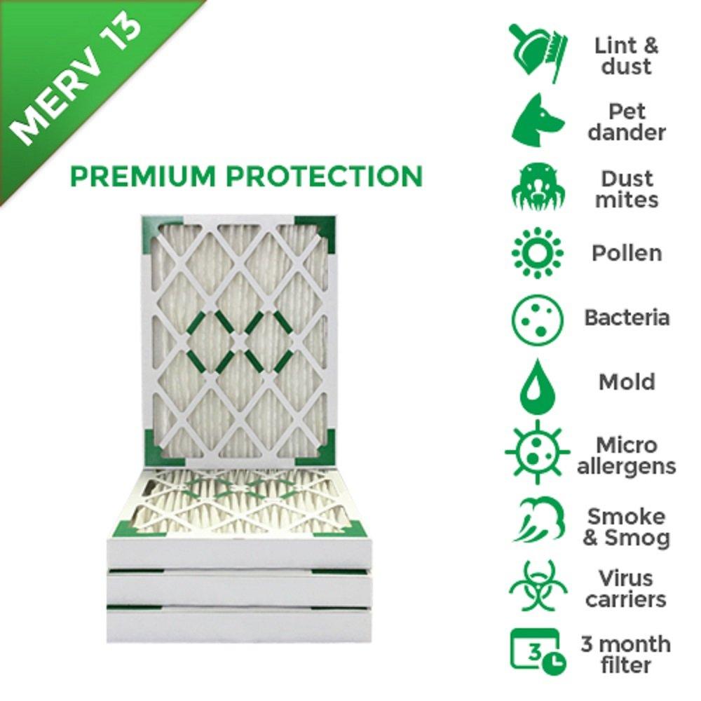 20x20x2 MERV 13 (MPR 2200) AC Furnace 2'' Inch Air Filters. 12 PACK