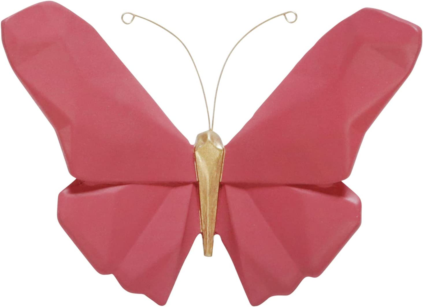 """Sagebrook Home 14704-08 Resin 6"""" W Origami Butterfly Wall Decor, Pink, 6"""" L x 2.5"""" W x 4.5"""" H"""