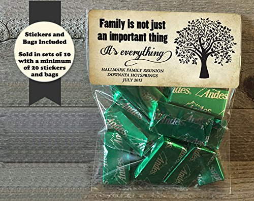 Family Tree Family Reunion Treat Bags and Stickers, Set of 20 ()