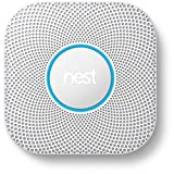 Nest Protect 2nd Generation Smart Smoke/Carbon Monoxide Wired Alarm, White