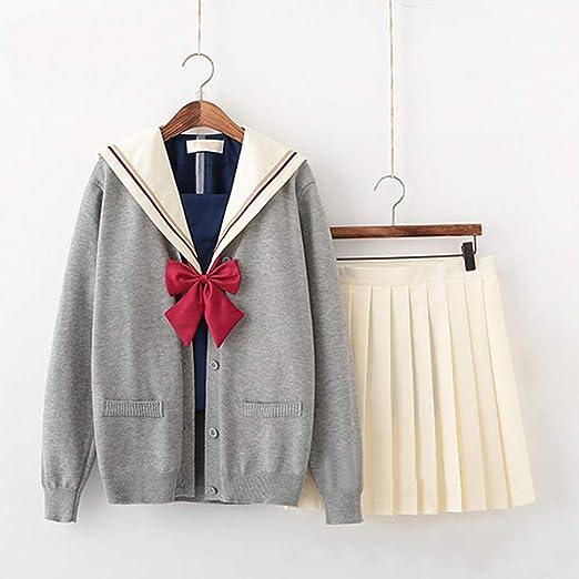Hzd Uniforme de Marinero para niñas de Manga Corta y Uniforme ...