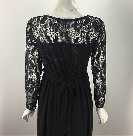 Vestido largo maxi de encaje maternidad mujeres embarazadas vestido de fotografía apoyos ropa regalo perfecto para amigo / amante vestido de noche del ...