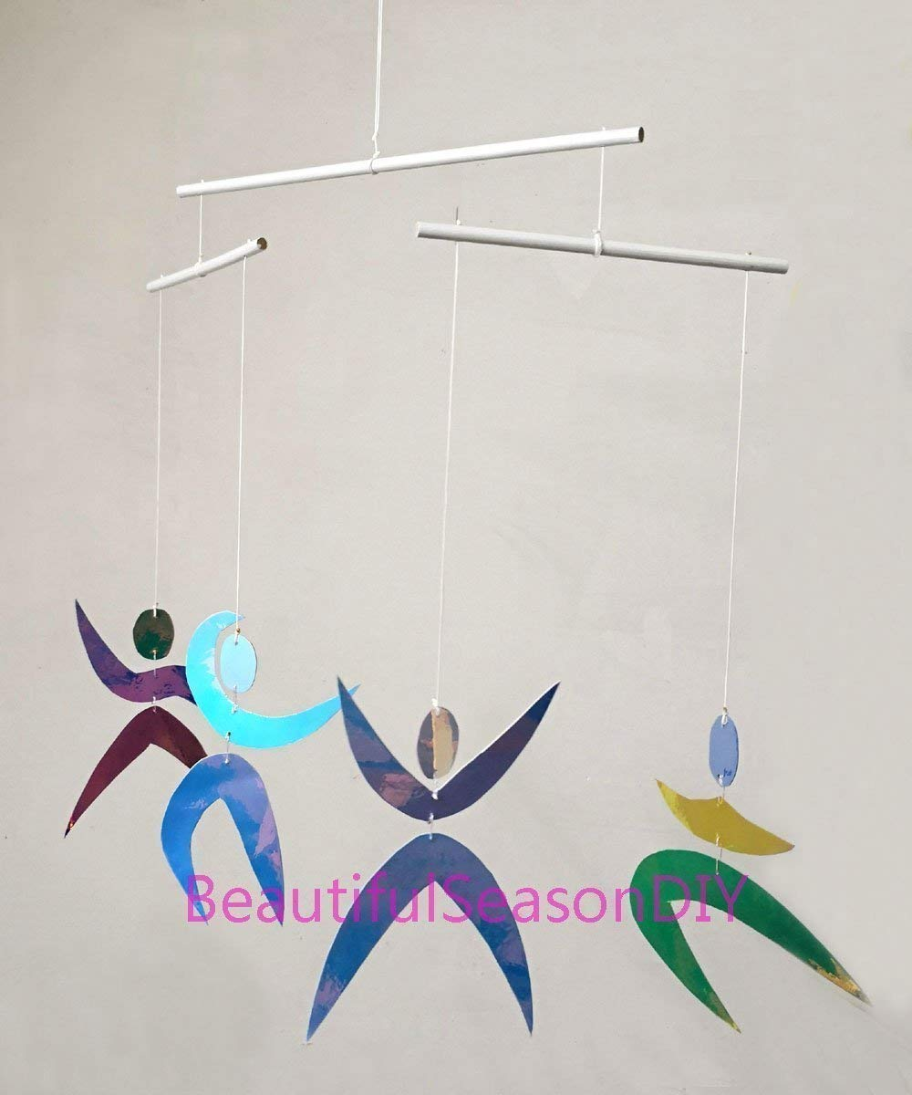 Dancers mobile Assembled Dancers Montessori Classic Visual Mobile for Baby Reflectors and discoloration materials.Baby Shower gift idea