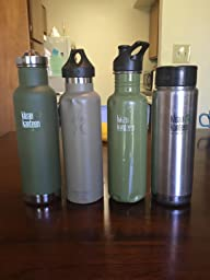 'Klean Kanteen Classic Vacuum Insulated with Loop Cap' from the web at 'https://images-na.ssl-images-amazon.com/images/I/618elhDhmWL._SL256_.jpg'