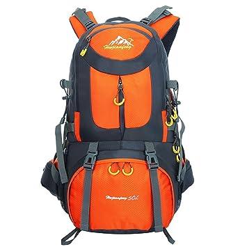 Mochila Trekking impermeable 55L & 50L, Mochilas para excursionismo montañismo deportiva Adecuado para hombre juveniles