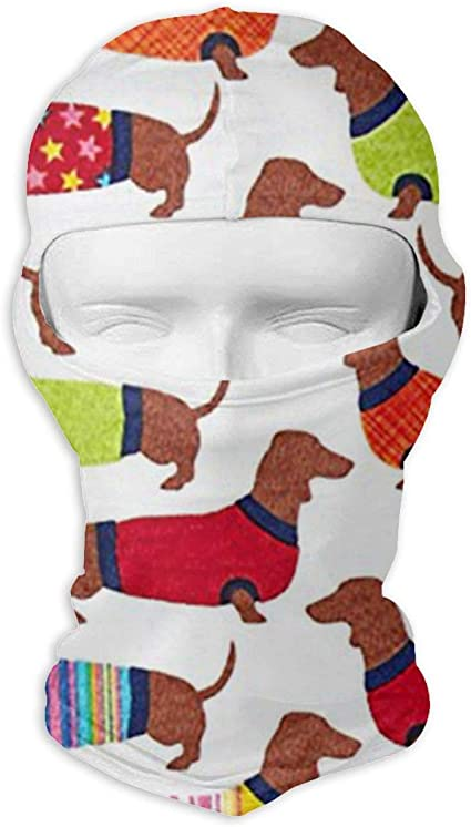 Amazon Com Laoji Dachshund Winter Ski Mask Balaclava Hood Wind