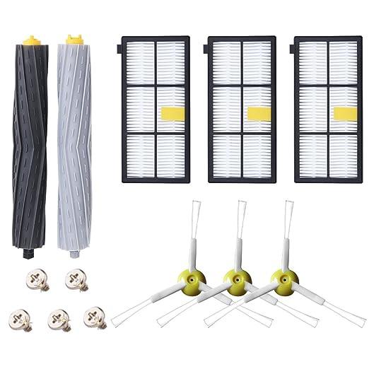 Kit de Accesorios para iRobot Roomba Recambios Roomba Series 800 805 850 860 865 866 870 871 880 886 890 891 895 896 900 960 965 966 980 para Robot ...