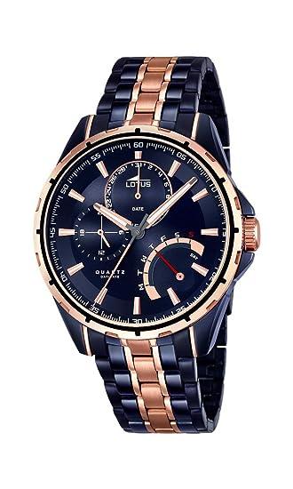 Lotus 18205 1 Colección Smart Casual - Reloj Analógico de Acero Inoxidable  con Movimiento de Cuarzo y Cristal Mineral para Hombre 591f76da387d