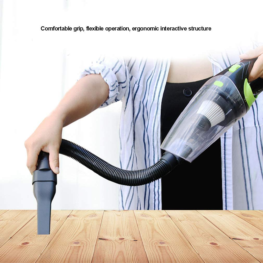 Hand Held Vacuum Cordless Cleaner for Home and Car Cleaning Wet /& Dry Accessories,Black 120W High Power USB Rechargeable