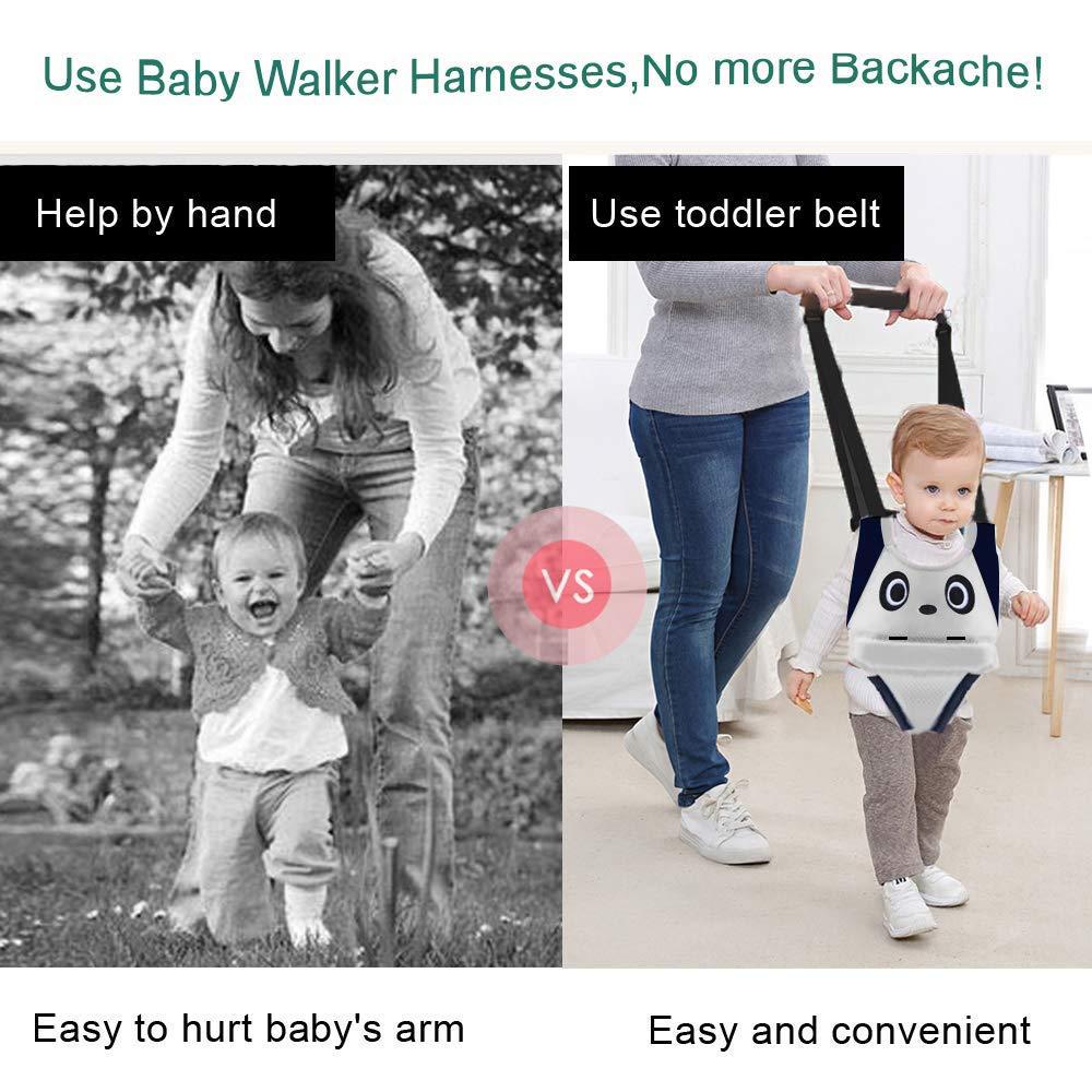 Baby Detachable Walking Harness Baby Walker Breathable Walking Assistant,Handheld,Adjustable Walk Learning Protective Belt for Baby 6-36 Months Blue