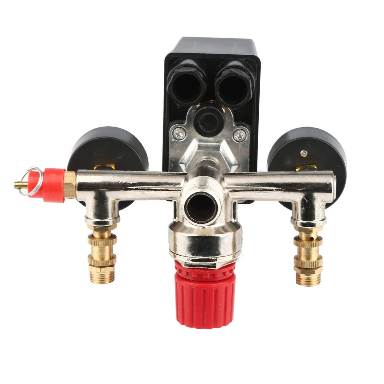 Lorenlli 40343 Pressostato regolabile Interruttore del compressore daria Regolazione della pressione con 2 pressostati Set di controllo valvola