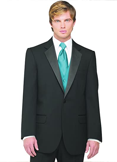 91be43eb89a7 Neil Allyn 7-Piece Tuxedo with Flat Front Pants Teal Vest and Tie at ...