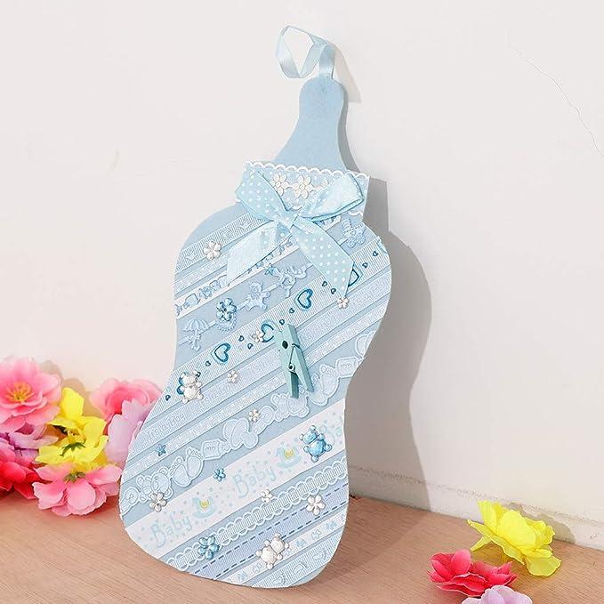 Baoblaze Tela Preciosa Botella de Leche Fiesta Cumpleaños Bienvenida a Bebé Decoración Colgante - Azul: Amazon.es: Hogar