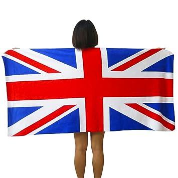 Printed con Euro nosotros bandera británica bandera Canadá toalla/toalla de playa toalla de toallas de algodón de dólar 75154: Amazon.es: Hogar
