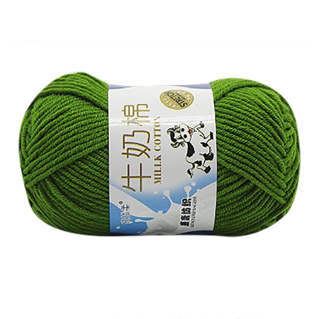 GreatFun 1PC 50g Chunky Hand Knitting Scores Milk Cotton Knitting Yarn Hat Scarf Sweater Blanket (D)