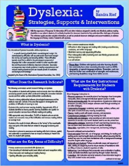 Dyslexia Strategies Supports And Interventions Sandra Rief 9781935609162 Amazon Com Books