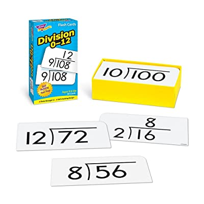 Trend Division Math Flash Cards, Set of 91: Toys & Games