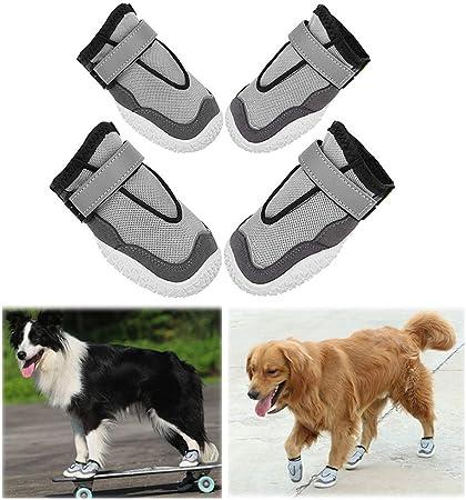 AOFITEE Dog Boots Reflective Pet Shoes