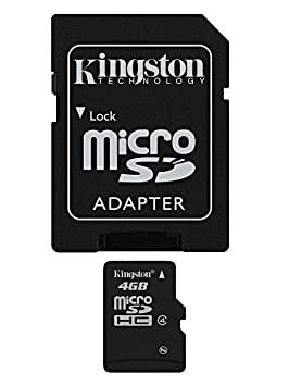 Kingston 4 GB microSDHC Class 4 Flash Memory Card SDC4/4GB