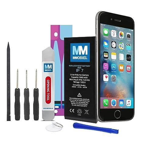 MMOBIEL Batería para iPhone 7 Li-Ion 1960 mAh 7.45 WH Incluye Etiqueta Adhesiva Anti-estática 2 x Destornilladores 2 x Palanca y Manual