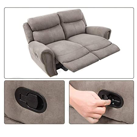 EDO Metal Recliner Handle Replacement Parts with Cable, Universal Sofa Chair Couch Release Lever Pull Handle, Fits Ashley and Major Recliner Brands ...