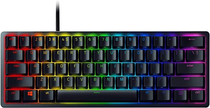 Amazon.com: Razer Huntsman Mini 60% Gaming Keyboard: Fastest Keyboard Switches Ever - Clicky Optical Switches - Chroma RGB Lighting - PBT Keycaps - Onboard Memory - Classic Black: Computers & Accessories
