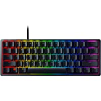 Razer Huntsman Mini Gaming Keyboard: Fastest Keyboard Switches Ever, Purple Switch (Clicky Optical Switches), Chroma RGB Lighting, PBT Keycaps, Onboard Memory, Classic Black - RZ03-03390100-R3M1