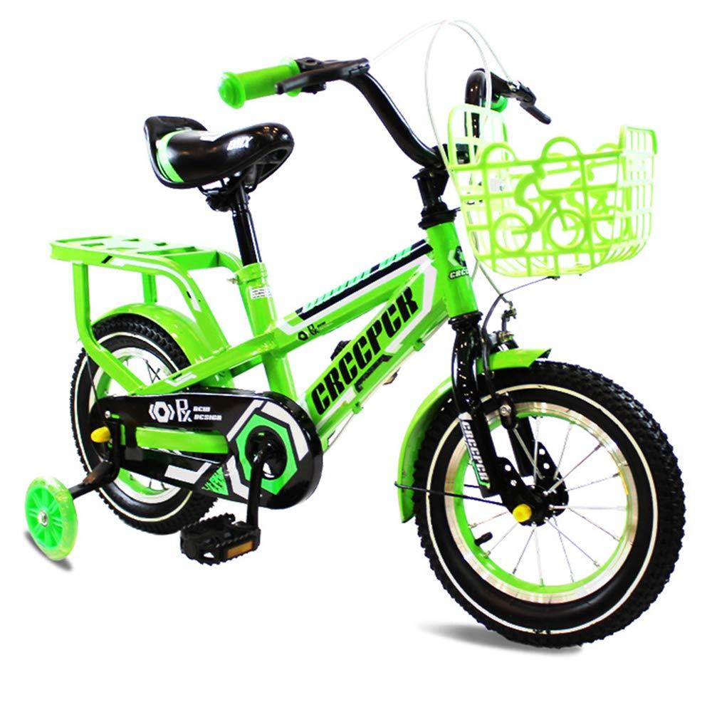 CARWORD Kinderfahrrad 12 16 Baby Leuchtende Kinderwagen Männer Und Frauen Kinder Pedal Geschenke Mountainbike,S