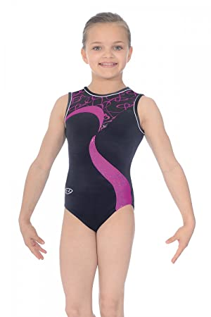 e8ef23217b26 The Zone Vibe Sleeveless Gymnastics Leotard 28 Black Pink Vibe Print ...