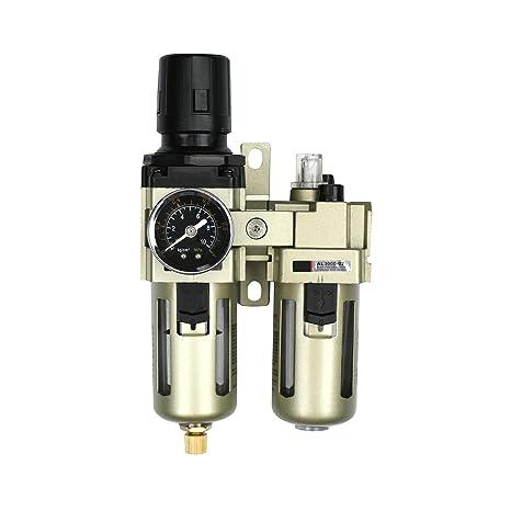 """1//4/""""Druckluftregler Druckminderer Mit Filter-Und-Manometer Und Wasserabscheider"""