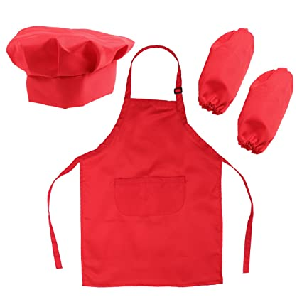 BESTOMZ Chef Set for Kids Bambini Cooking Dress Up Giochi di ruolo Set con  grembiule db9a2b5d431f
