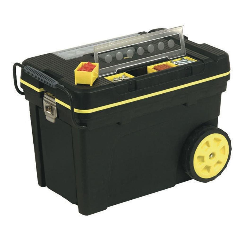 Stanley coffre à outils roulant avec plateau amovible Poignée souple