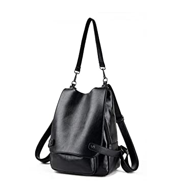 2614b5e2b Amazon.com | Montmo Womens & Girls Casual Leather Backpack Purse Satchel  Shoulder School Bags for College (Black) | Backpacks