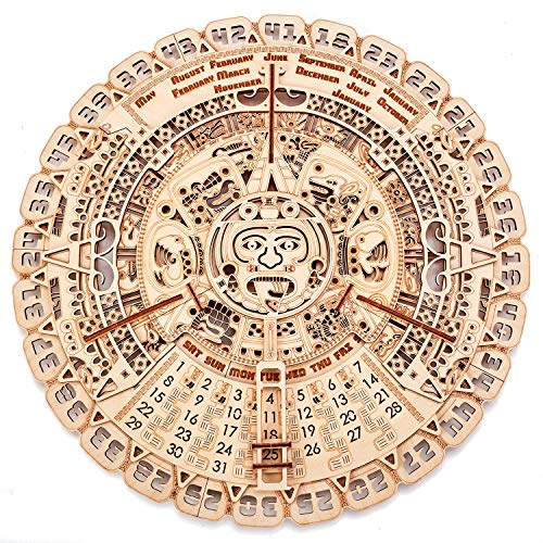 Wood Trick Wooden Mayan Calendar - 3D Wooden Puzzle, Brain Games, Brain Teasers for Adults and Kids